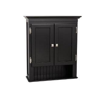 sei black arch top bathroom wall cabinet