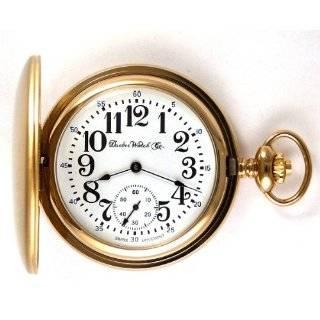 Dueber Swiss Mechanical Pocket Watch with High Polish Gold