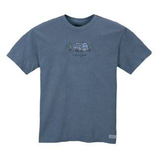 Life is good. Mens Crusher Tee Airstream Campfire, Shadow